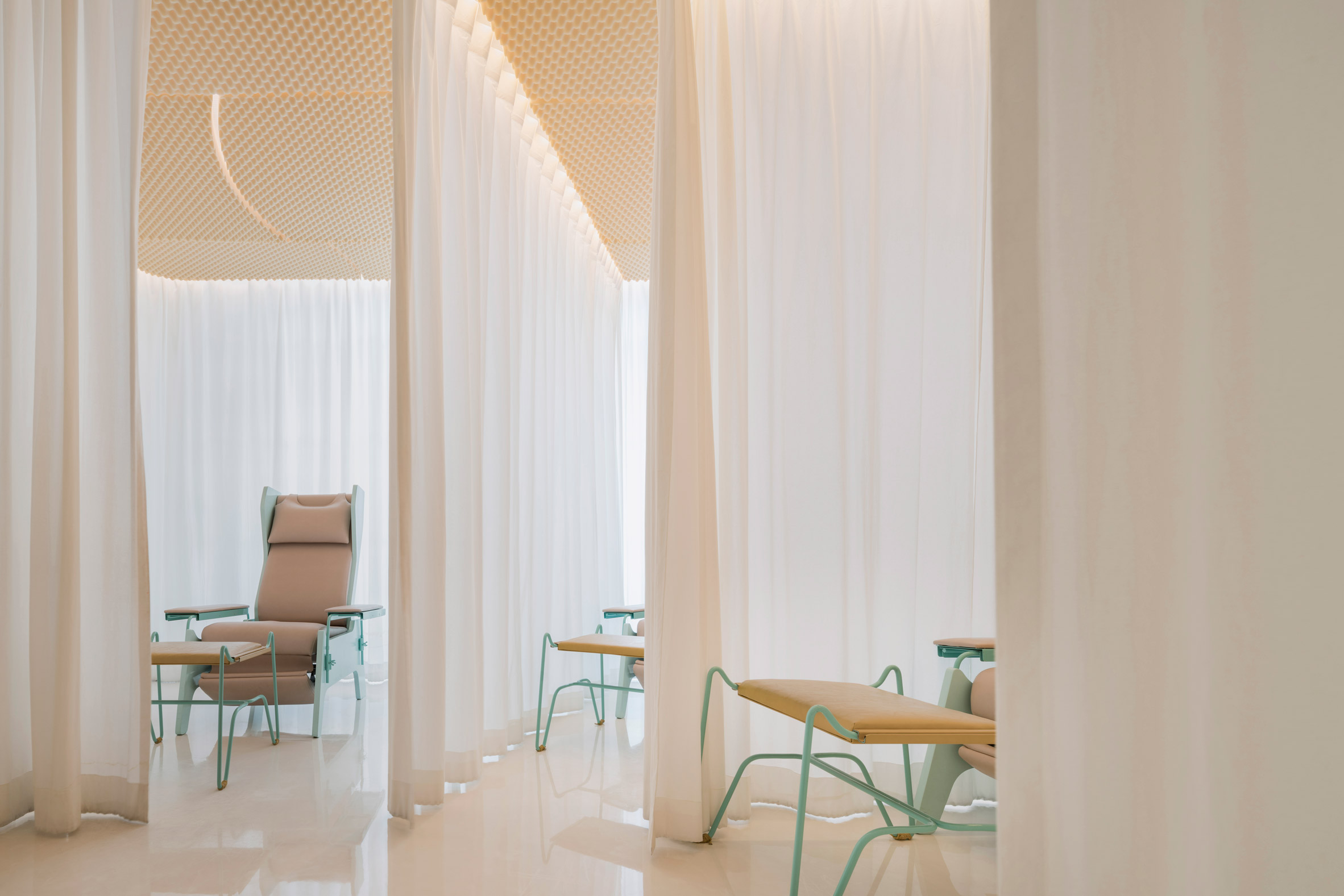 Turquoise paintwork and wire-frame furniture enliven Bangkok spa by Space Popular