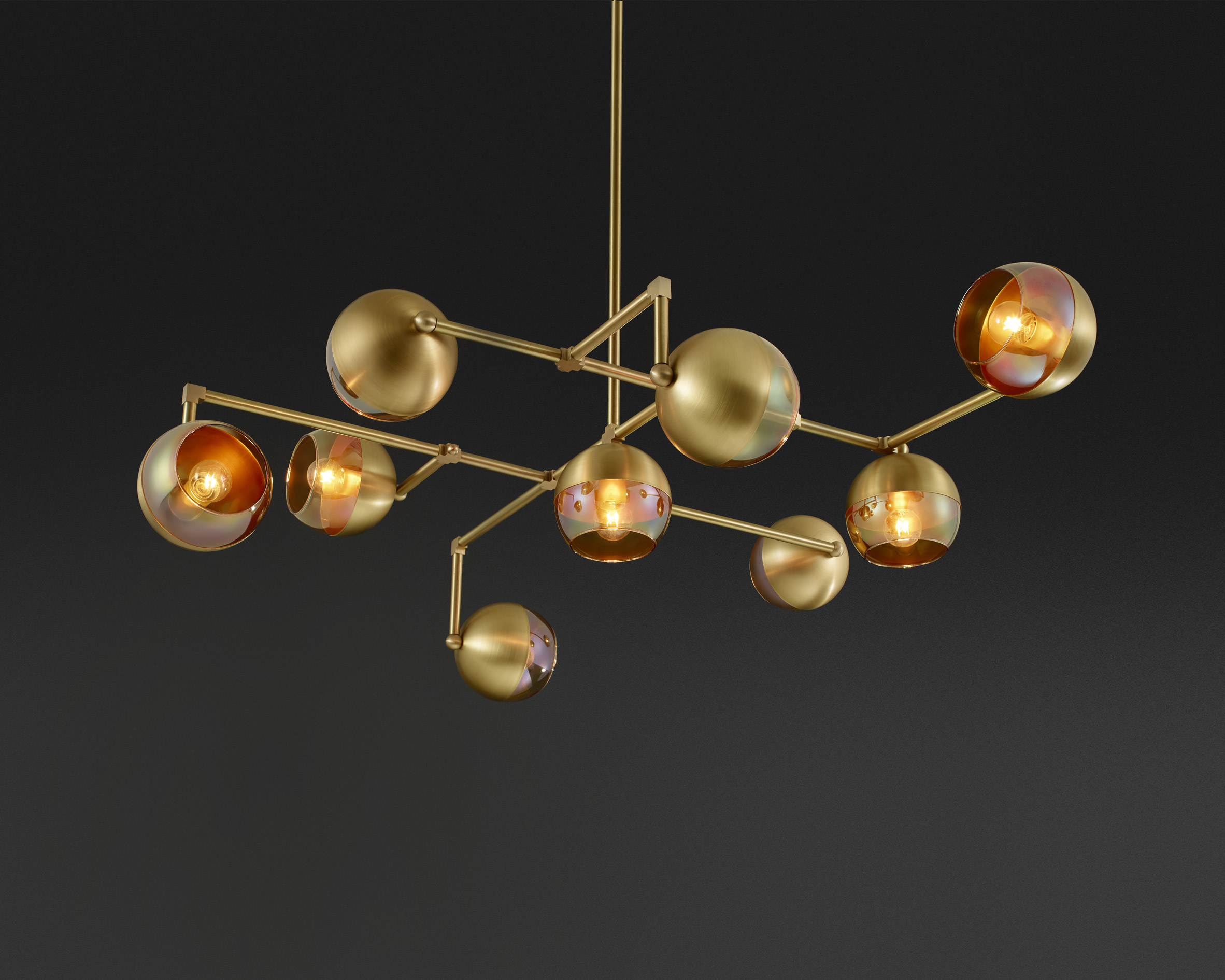Lightmaker Studio presents geometric brass lighting at IDS Toronto