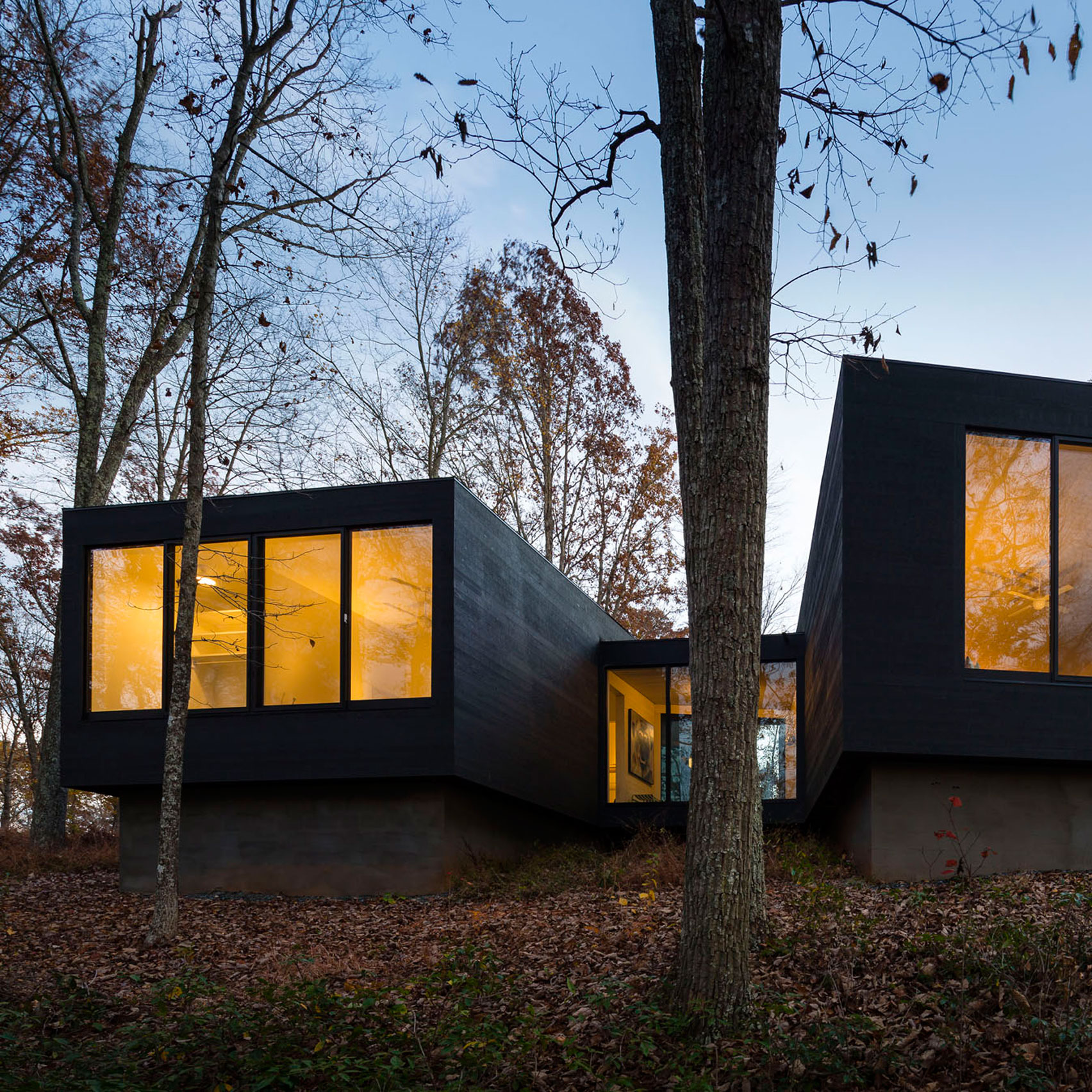 Uncategorized Black Facade houses with black exteriors dezeen architecturefirm perches country home on forested hilltop in virginia