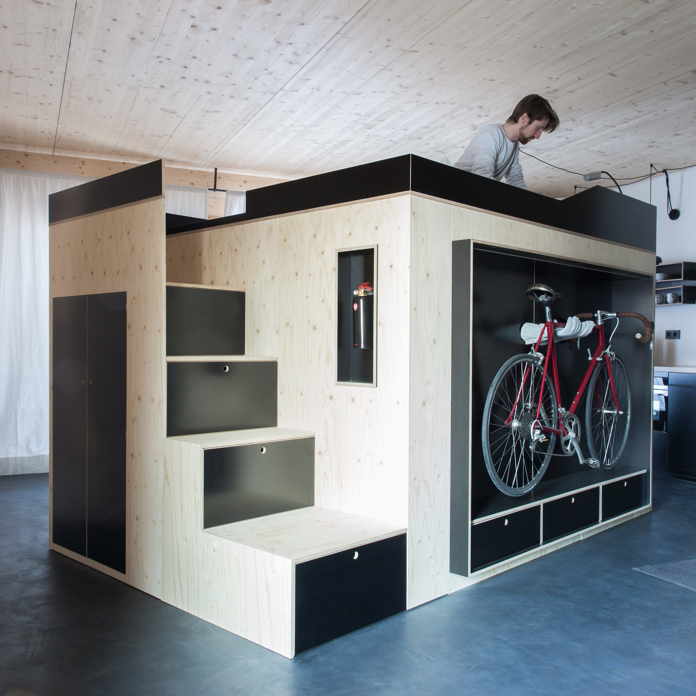 Nils Holger Moormann creates Kammerspiel living cube for micro apartments. Nils Holger Moormann creates Kammerspiel living cube for micro