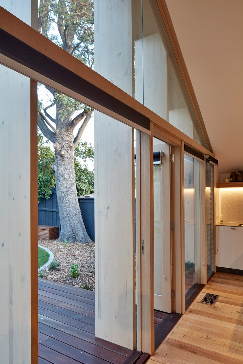 Terrific Timber Fins Shade Glazed Gable Added To Melbourne Home By Interior Design Ideas Gentotthenellocom