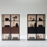 Werner Aisslinger designs tinted glass shelving that can be customised online