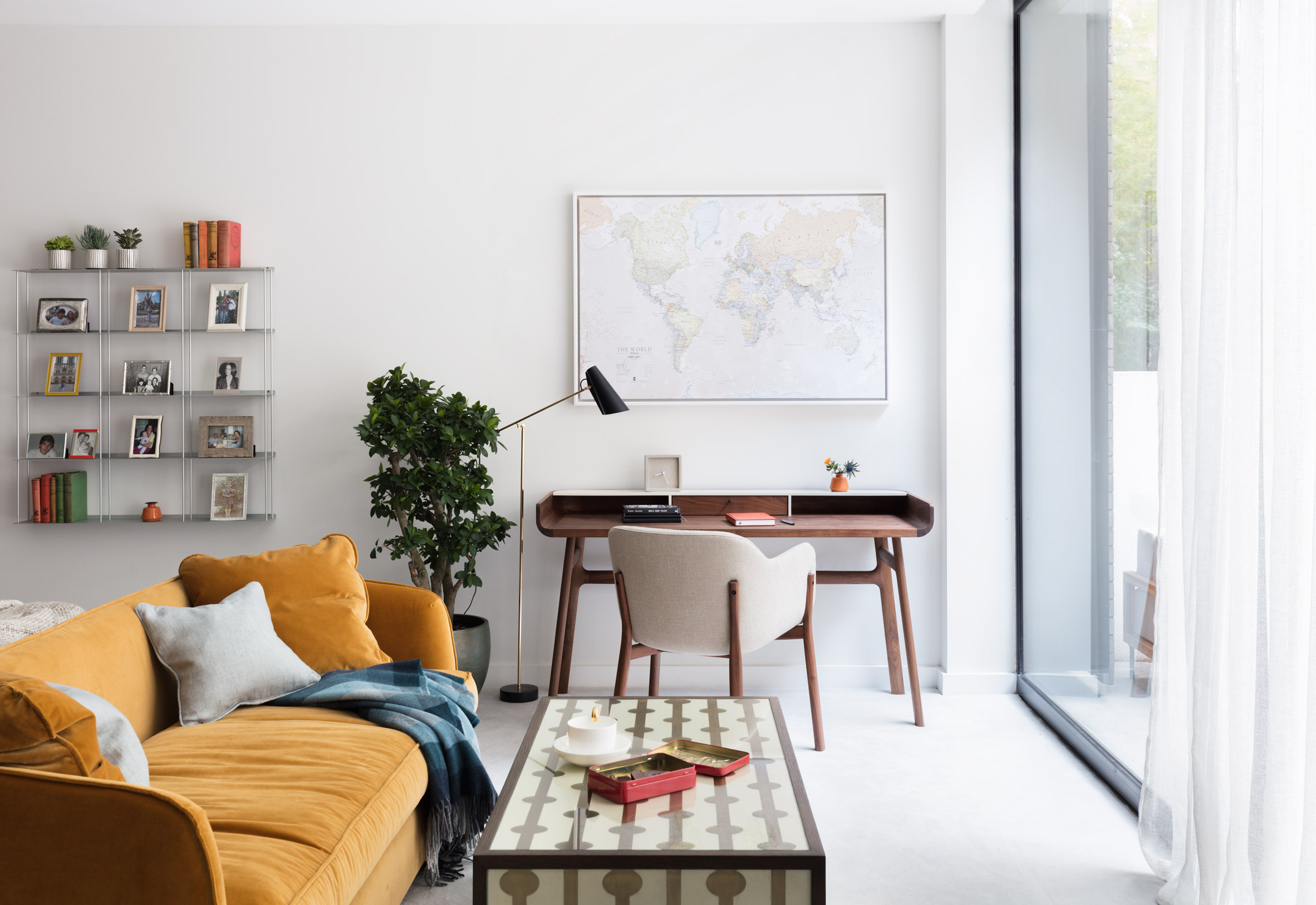 """Contemporary furniture and richly textured fabrics update """"vanilla"""" home in Hampstead"""