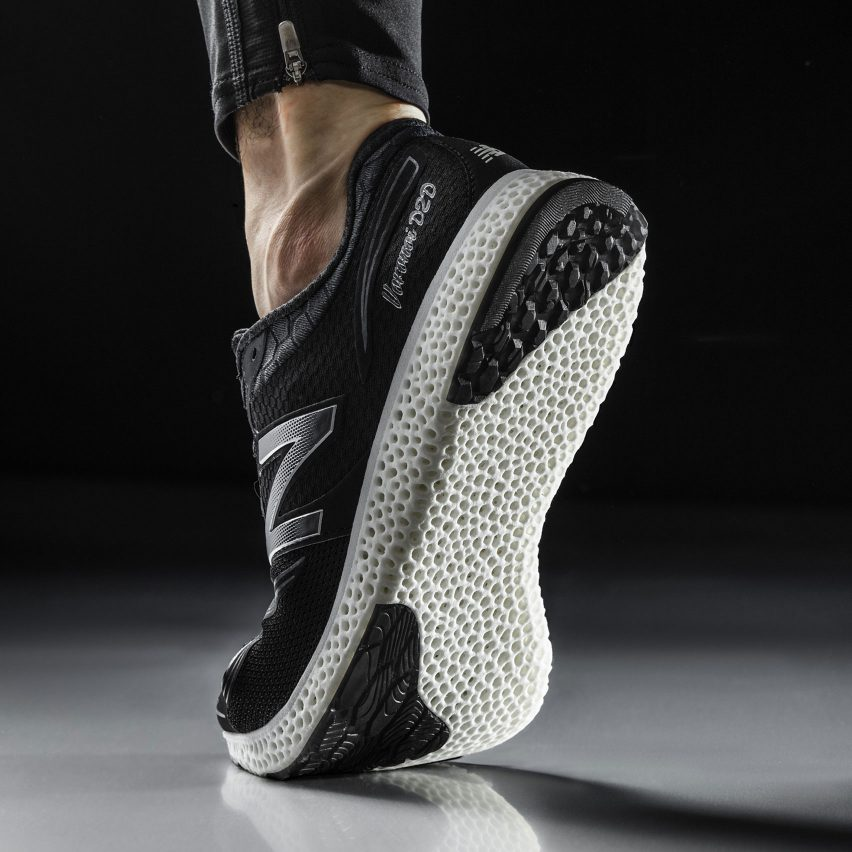 New Balance trainers with 3D-printed soles