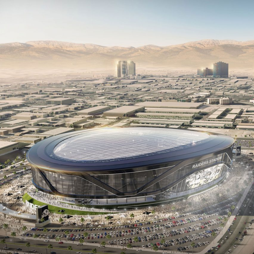 Oakland Raiders stadium for Las Vegas by Manica Architecture