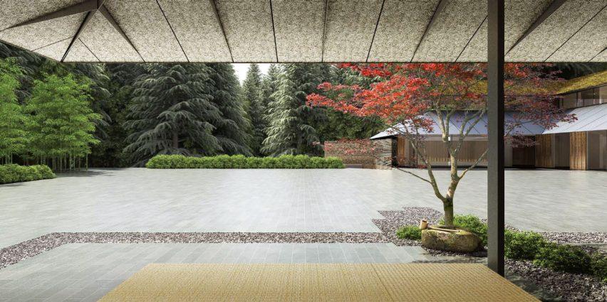 Portland Botanic Garden by Kengo Kuma