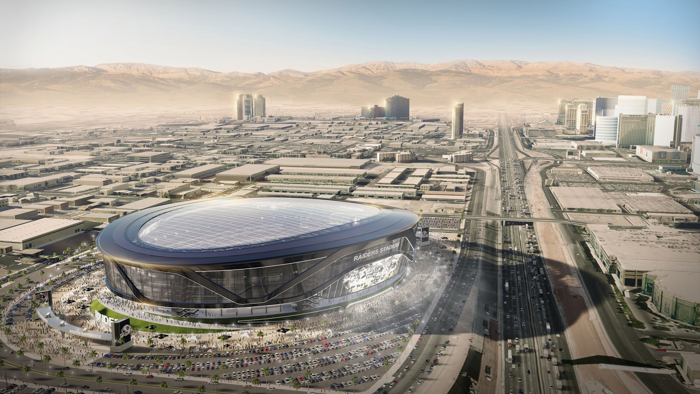 Las Vegas hopes to entice Oakland Raiders with $1.9 billion stadium