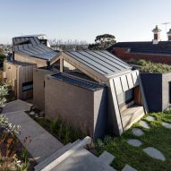 Gardiner Architects shelters Melbourne house beneath folded zinc roof