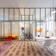 10 home interiors from Dezeen's Pinterest boards that swap walls for partitions