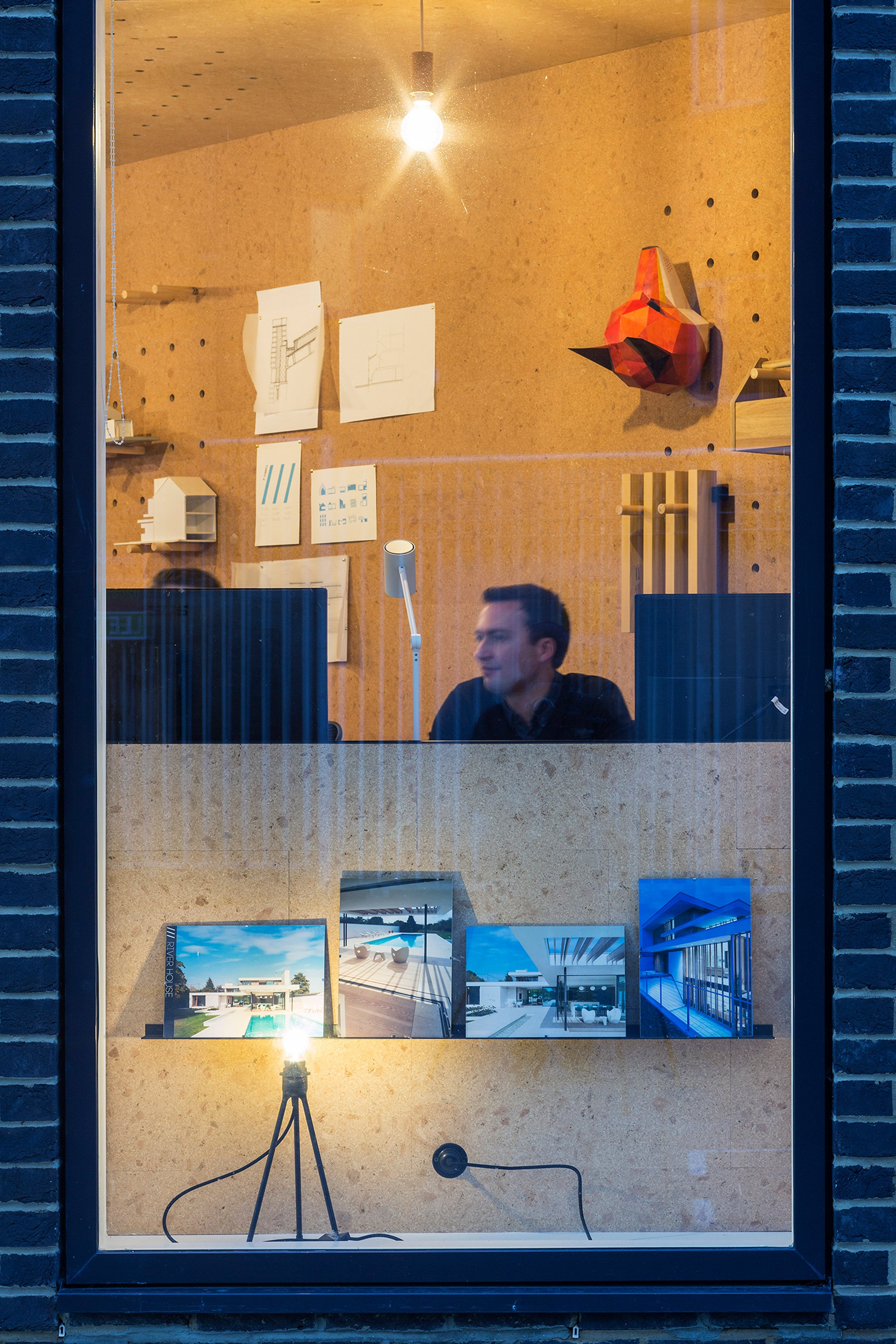 Selencky Parsons adds cork-lined pod with pegboard walls to its own office