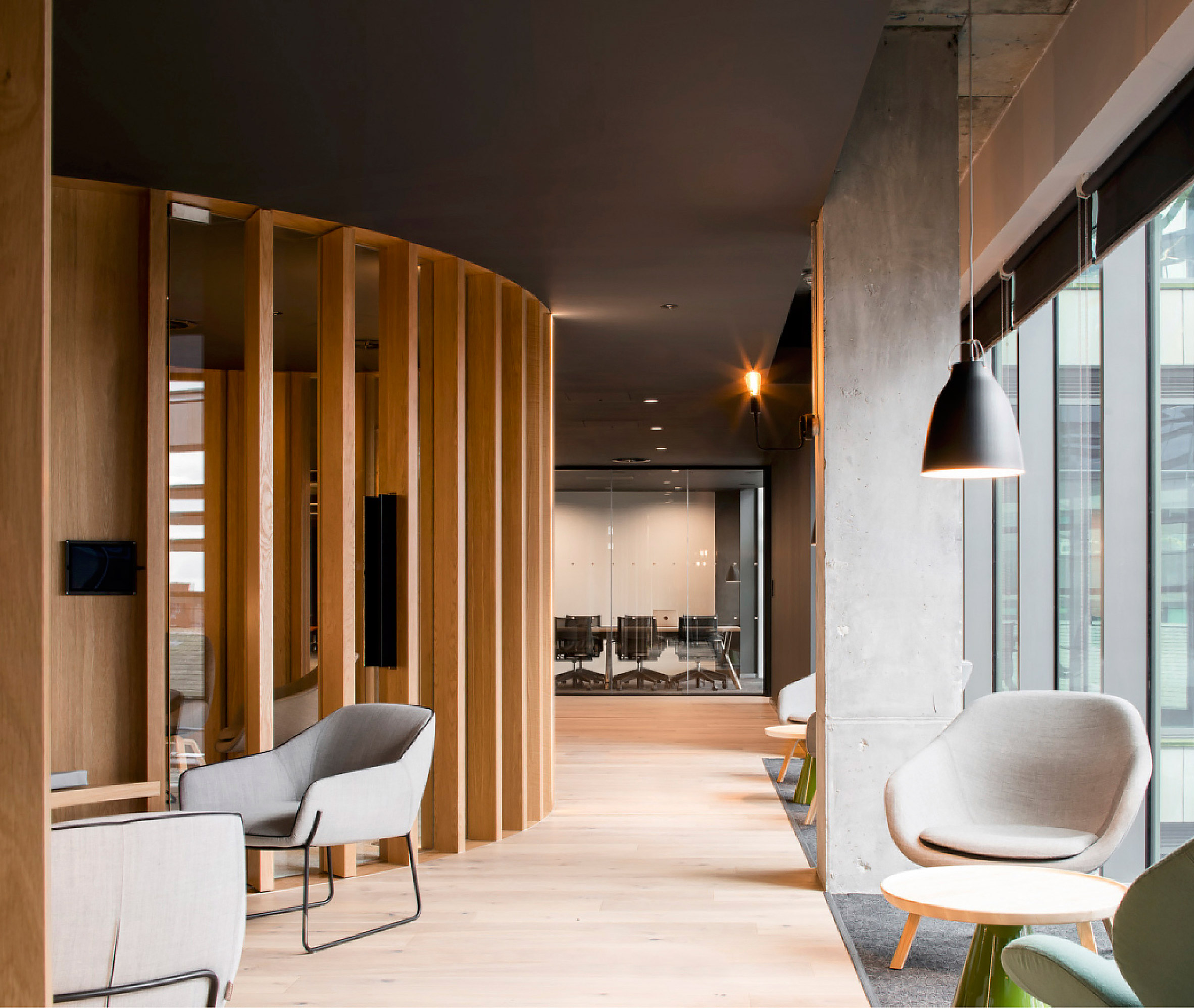 Slacks european headquarters eschews bright colours of for Dublin interior design firm