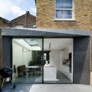 Architecture for London builds one house extension in slate and another in brick