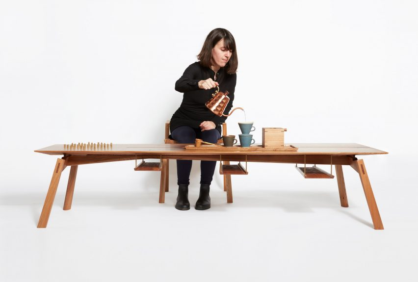 Hugh Miller creates ceremonial furniture for coffee-drinking ritual