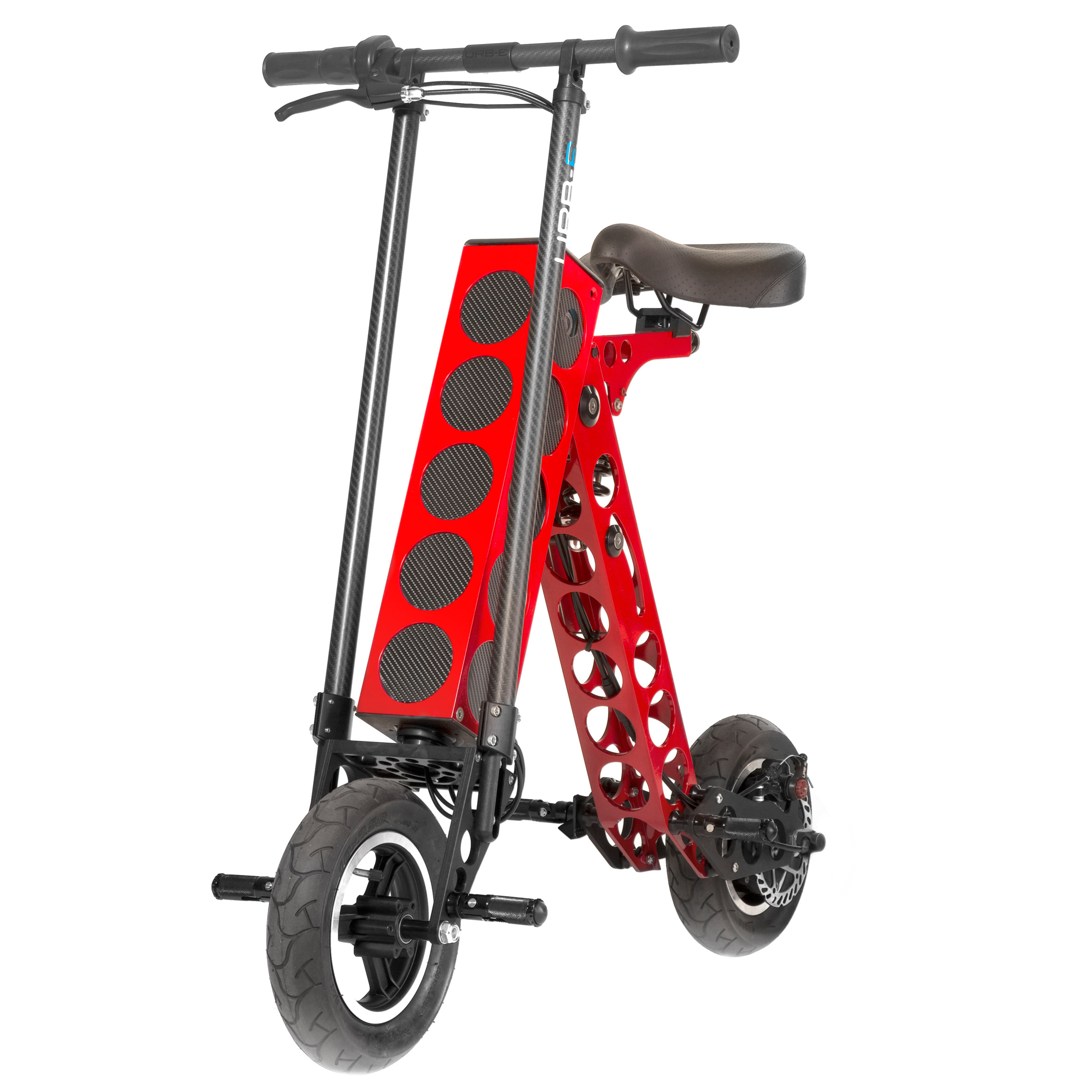 URB-E Sport electric scooter charges multiple electronic devices simultaneously