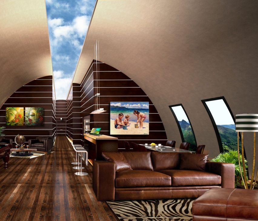 Vivos xPoint bunker interior rendering