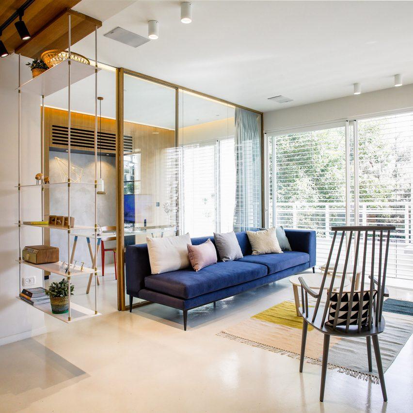 10 home interiors featuring partition walls from Dezeens Pinterest