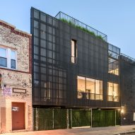 Young Projects extends brick townhouse in Brooklyn with metal-clad addition