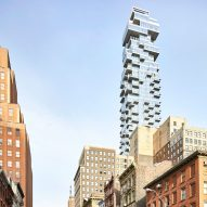 Herzog & de Meuron's Jenga-like 56 Leonard skyscraper photographed by Hufton + Crow