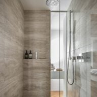Peart/Weisgerber Residence at Habitat 67 by Moshe Safdie renovated by EMarchitecture Shower