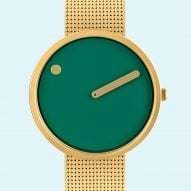 Picto watch now available at Dezeen Watch Store with a mesh strap