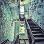 Administration Building Spiral Staircase Matt Van der Velde Architecture Abandoned Asylums Interior Jonglez Publishing