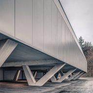 Jan Henrik Hansen adds futuristic badminton hall to Swiss sports centre
