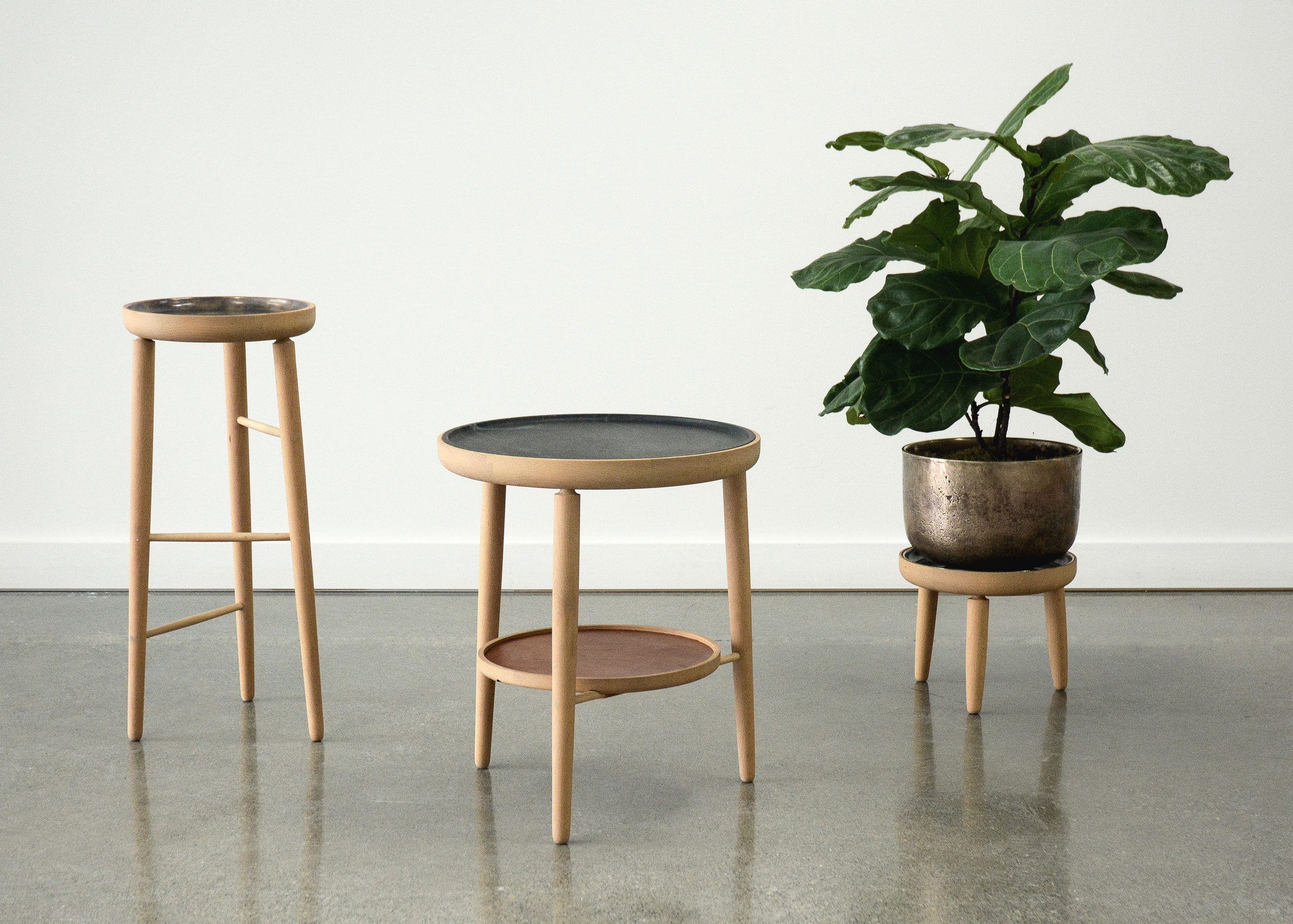 Baré tables and planters by Jake Whillans
