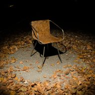 Šimon Kern makes chair from recycled fallen leaves