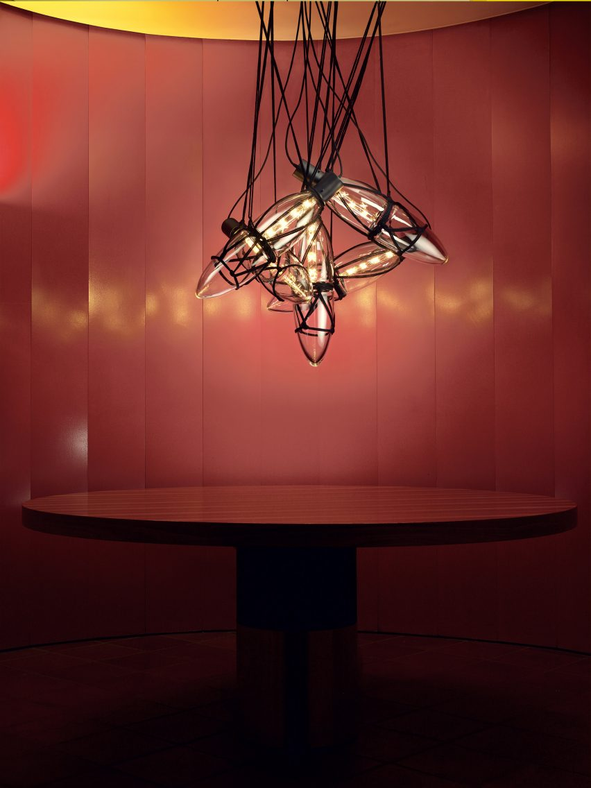 Bomma unveils glass lighting collection by six czech designers kateina handlovs shibari collection references the japanese technique of binding objects with ropes as a way of communication mozeypictures Choice Image