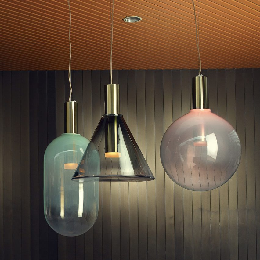 Bomma unveils glass lighting collection by six czech designers mozeypictures Gallery