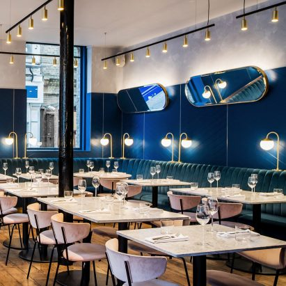 Adorable 20 blue restaurant interior design inspiration for Restaurant design london