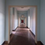Communal ward hallway Matt Van der Velde Architecture Abandoned Asylums Interior Jonglez Publishing