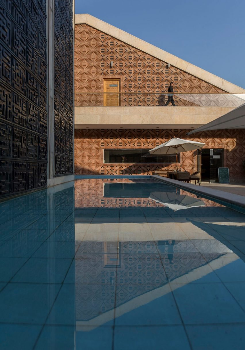 Architizer A+ Awards - Pond and walkway of Emam Reza Mosque and Cultural Complex by Kalout Architecture Studio