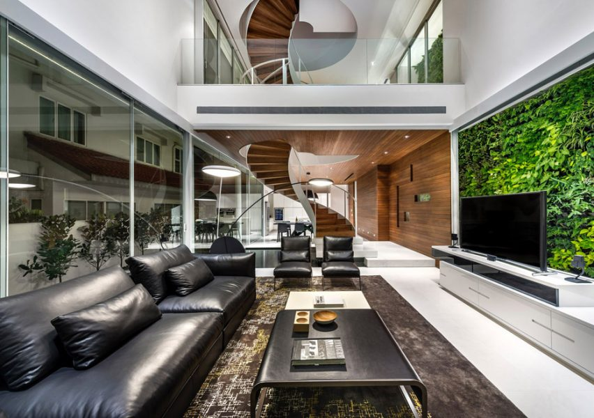 Greja House Interior Lounge and Staircase