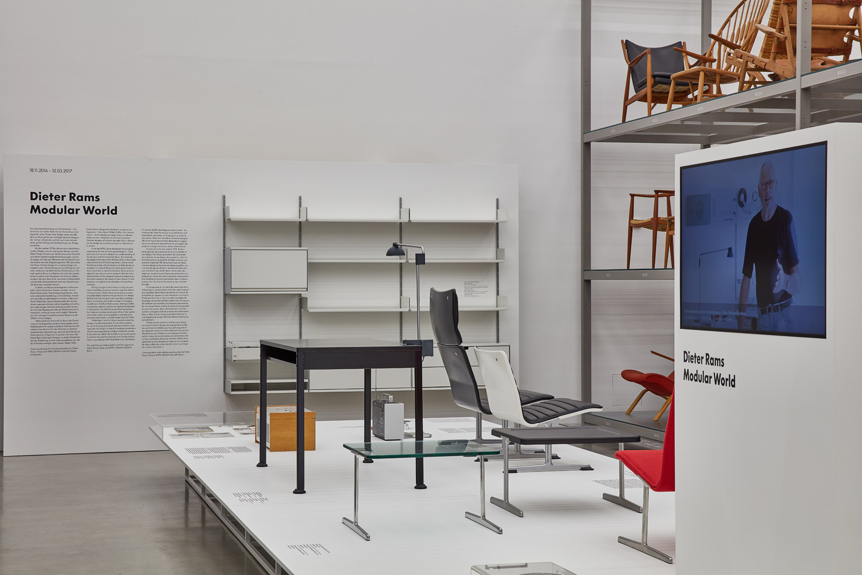 Dieter Rams' modular furniture showcased in Modular World exhibition at Vitra Campus