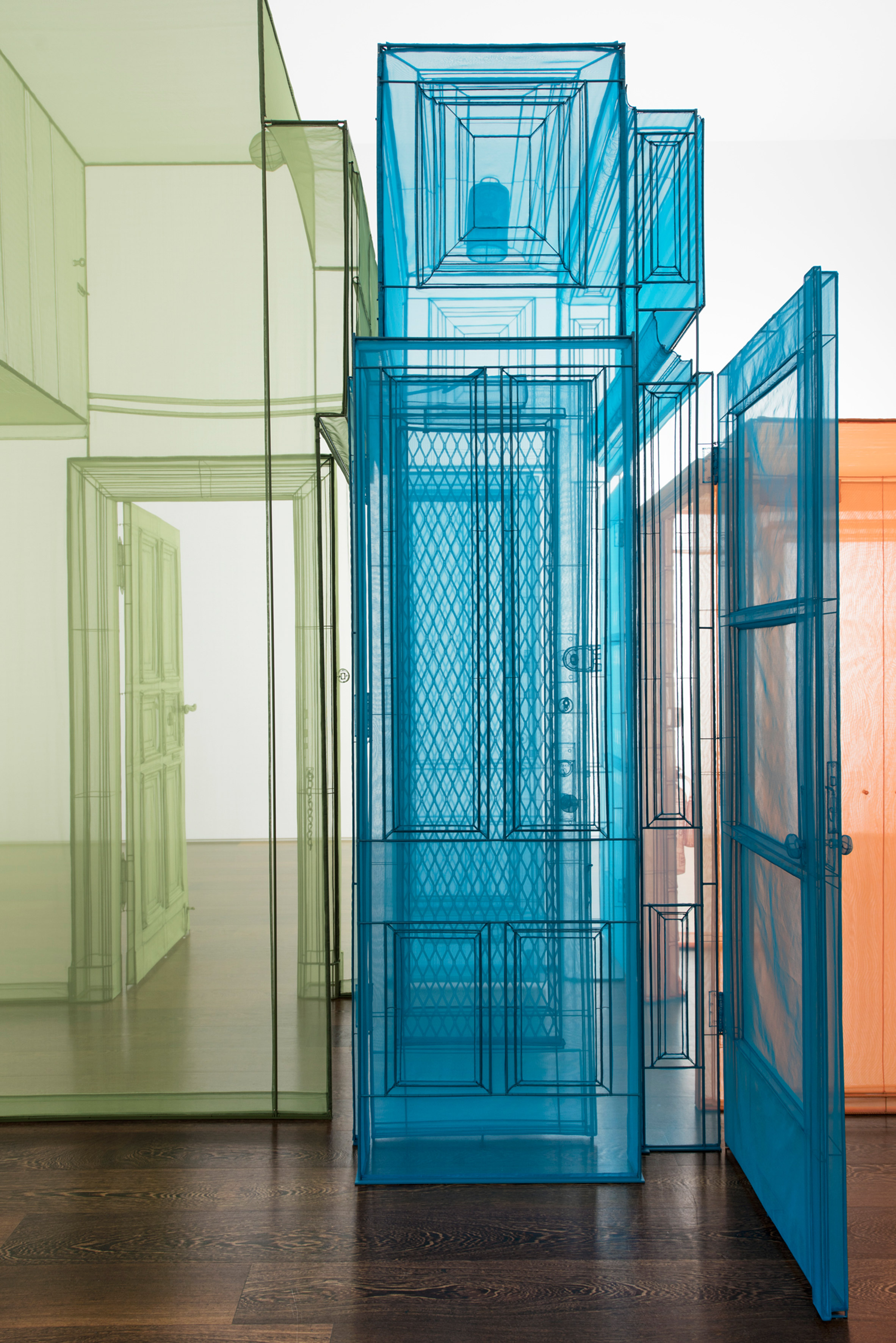 Do Ho Suh creates colourful structures to represent his experience of migration