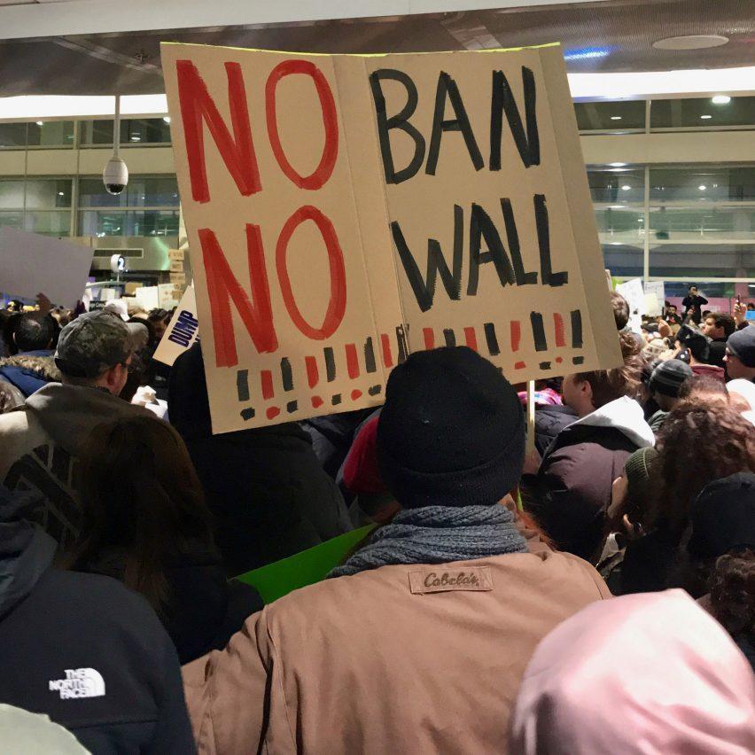 No Ban No Wall protest