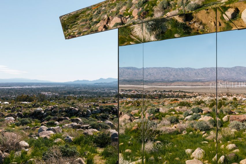 Mirage by Doug Aitken, an installation that is a part of an exhibition called Desert X, curated by Neville Wakefield