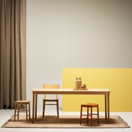 Note Design Studio creates deliberately unassuming tables and stools for Fogia