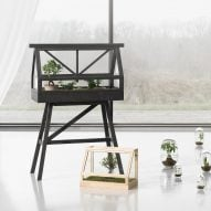 Atelier 2+ designs miniature greenhouse for indoor gardeners