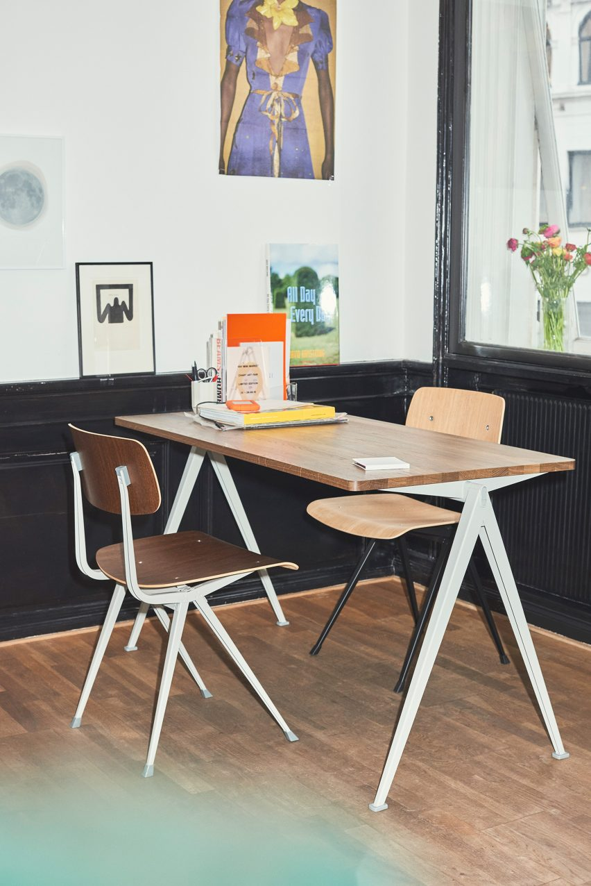 Made Up Of Thin Steel Sheet Bases, And A Fine Oak Seat And Backrest, The  Result Chair Is Designed To Be Light While Being Strong And Retaining A  Level Of ...