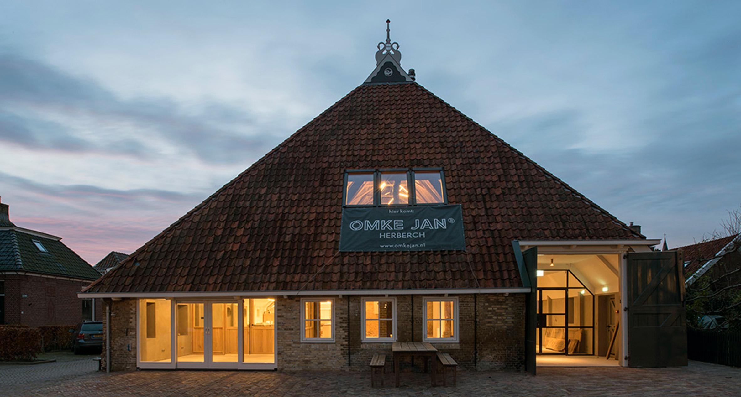 Piet Hein Eek and Iggie Dekkers convert Friesian barn into rustic guesthouse