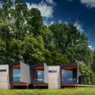 Bohlin Cywinski Jackson creates cabins for Fallingwater site in rural Pennsylvania