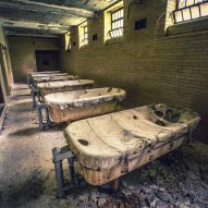 Hydrotherapy tubs Matt Van der Velde Architecture Abandoned Asylums Interior Jonglez Publishing