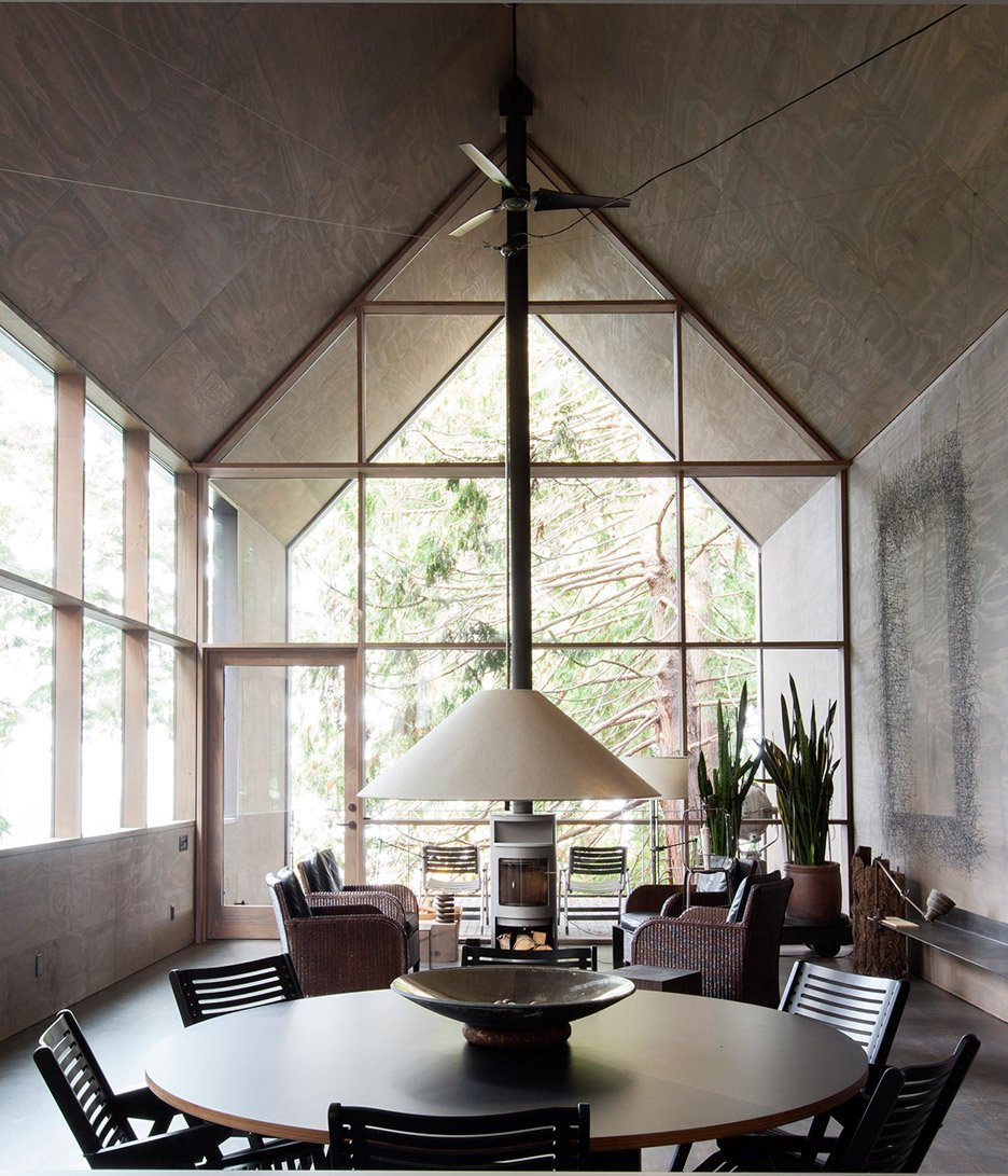 Seattle waterfront home enjoys carefully chosen views through lush vegetation