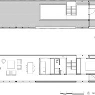 Ground and loft level plans Junsei House by Suyama Peterson Deguchi