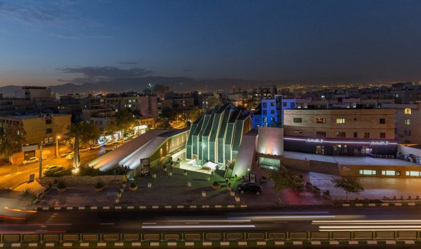Architizer A+ Awards - Night view of Emam Reza Mosque and Cultural Complex by Kalout Architecture Studio