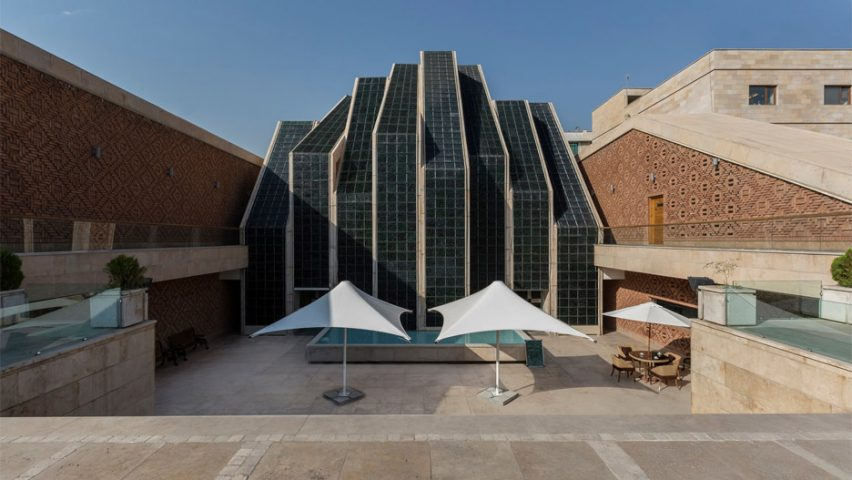 Architizer A+ Awards - Entrance front view of Emam Reza Mosque and Cultural Complex by Kalout Architecture Studio