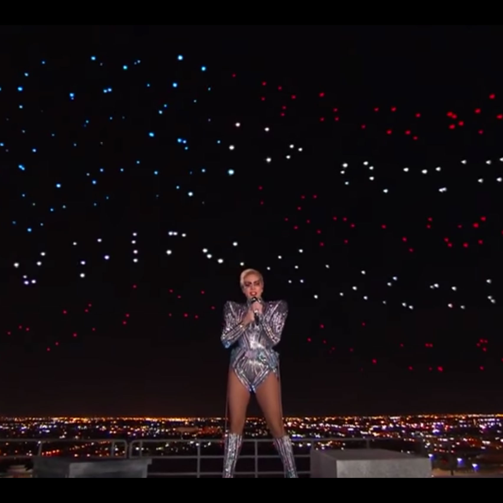 Lady Gaga's Super Bowl performance accompanied by 300 drones
