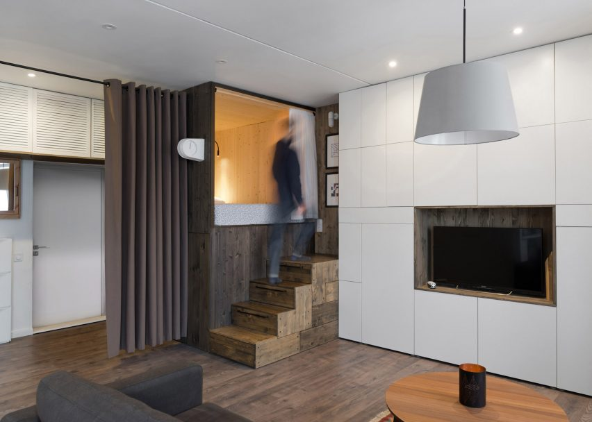 Micro apartment, Moscow, Russia by Alireza Nemat